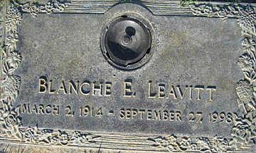 LEAVITT, BLANCHE E - Mohave County, Arizona | BLANCHE E LEAVITT - Arizona Gravestone Photos