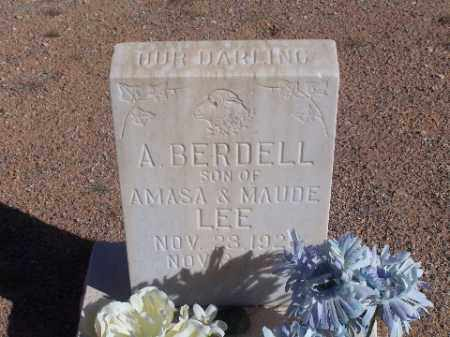 LEE, A BERDELL - Mohave County, Arizona   A BERDELL LEE - Arizona Gravestone Photos