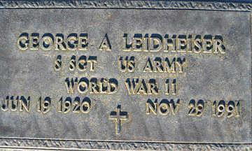 LEIDHEISER, GEORGE A - Mohave County, Arizona | GEORGE A LEIDHEISER - Arizona Gravestone Photos