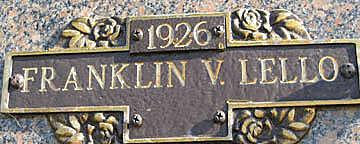 LELLO, FRANKLIN V - Mohave County, Arizona | FRANKLIN V LELLO - Arizona Gravestone Photos