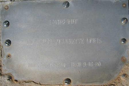 LEWIS, LURA JEANNETTE - Mohave County, Arizona   LURA JEANNETTE LEWIS - Arizona Gravestone Photos