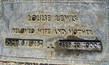LEWIS, LOUISE - Mohave County, Arizona   LOUISE LEWIS - Arizona Gravestone Photos