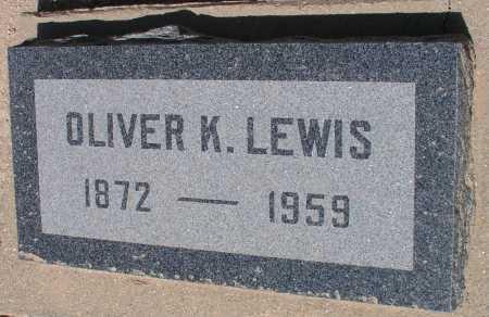 LEWIS, OLIVER K. - Mohave County, Arizona | OLIVER K. LEWIS - Arizona Gravestone Photos