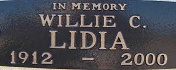 LIDA, WILLIE C - Mohave County, Arizona   WILLIE C LIDA - Arizona Gravestone Photos