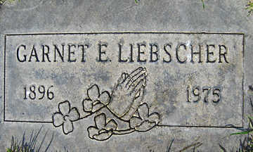 LIEBSCHER, GARNET E - Mohave County, Arizona | GARNET E LIEBSCHER - Arizona Gravestone Photos