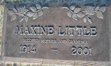 LITTLE, MAXINE - Mohave County, Arizona | MAXINE LITTLE - Arizona Gravestone Photos