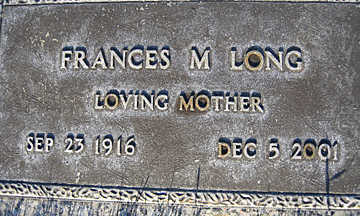 LONG, FRANCES M - Mohave County, Arizona   FRANCES M LONG - Arizona Gravestone Photos