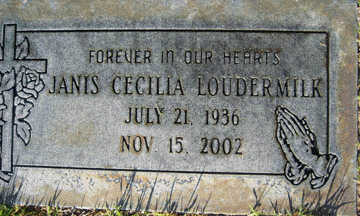 LOUDERMILK, JANICE CECILIA - Mohave County, Arizona | JANICE CECILIA LOUDERMILK - Arizona Gravestone Photos