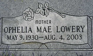 LOWERY, OPHEILIA MAE - Mohave County, Arizona | OPHEILIA MAE LOWERY - Arizona Gravestone Photos