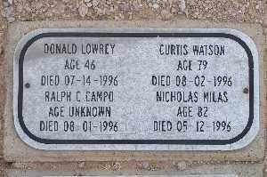WATSON, CURTIS - Mohave County, Arizona | CURTIS WATSON - Arizona Gravestone Photos