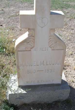 LUJAN, MANUEL M. - Mohave County, Arizona | MANUEL M. LUJAN - Arizona Gravestone Photos