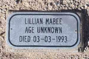 MABEE, LILLIAN - Mohave County, Arizona | LILLIAN MABEE - Arizona Gravestone Photos