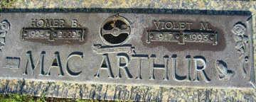 MACARTHUR, VIOLET M - Mohave County, Arizona | VIOLET M MACARTHUR - Arizona Gravestone Photos