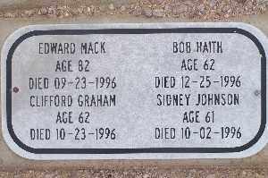 GRAHAM, CLIFFORD - Mohave County, Arizona   CLIFFORD GRAHAM - Arizona Gravestone Photos