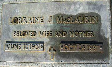MACLAURIN, LORRAINE J - Mohave County, Arizona   LORRAINE J MACLAURIN - Arizona Gravestone Photos