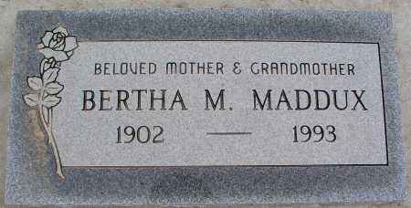 MADDUX, BERTHA M. - Mohave County, Arizona | BERTHA M. MADDUX - Arizona Gravestone Photos