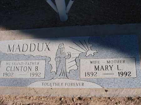 MADDUX, MARY L. - Mohave County, Arizona | MARY L. MADDUX - Arizona Gravestone Photos