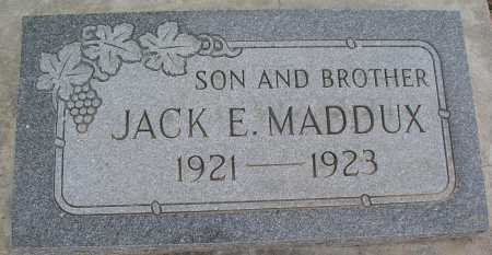 MADDUX, JACK E. - Mohave County, Arizona | JACK E. MADDUX - Arizona Gravestone Photos