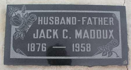 MADDUX, JACK C. - Mohave County, Arizona | JACK C. MADDUX - Arizona Gravestone Photos