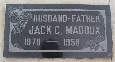 MADDUX, JACK C. - Mohave County, Arizona | JACK C. MADDUX - Arizona Gravestone Photos