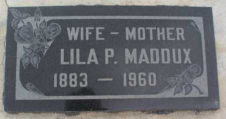 MADDUX, LILA P. - Mohave County, Arizona | LILA P. MADDUX - Arizona Gravestone Photos
