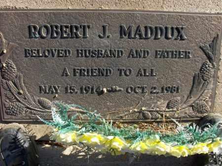 MADDUX, ROBERT J. - Mohave County, Arizona | ROBERT J. MADDUX - Arizona Gravestone Photos