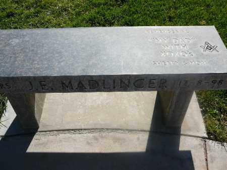 MADLINGER, J E - Mohave County, Arizona | J E MADLINGER - Arizona Gravestone Photos