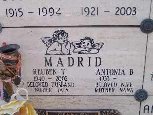 MADRID, REUBEN T - Mohave County, Arizona | REUBEN T MADRID - Arizona Gravestone Photos