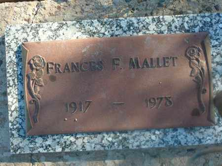 MALLET, FRANCES F - Mohave County, Arizona | FRANCES F MALLET - Arizona Gravestone Photos