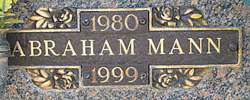 MANN, ABRAHAM - Mohave County, Arizona | ABRAHAM MANN - Arizona Gravestone Photos