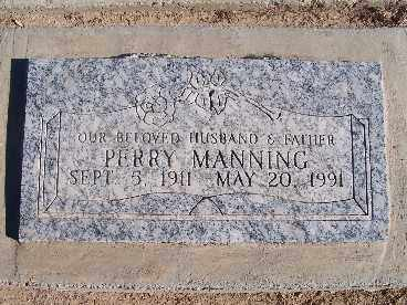 MANNING, PERRY - Mohave County, Arizona   PERRY MANNING - Arizona Gravestone Photos
