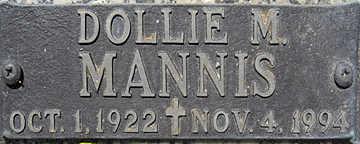 MANNIS, DOLLIE M - Mohave County, Arizona | DOLLIE M MANNIS - Arizona Gravestone Photos