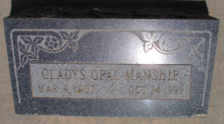 MANSHIP, GLADYS OPAL - Mohave County, Arizona | GLADYS OPAL MANSHIP - Arizona Gravestone Photos