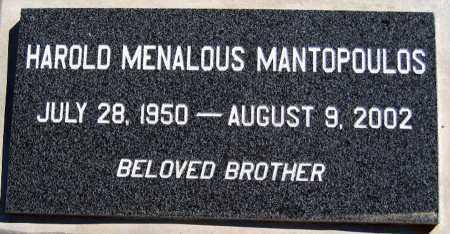 MANTOPOULOS, HAROLD MENALOUS - Mohave County, Arizona | HAROLD MENALOUS MANTOPOULOS - Arizona Gravestone Photos