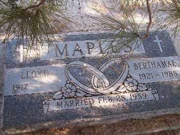 MAPLES, LLOYD - Mohave County, Arizona   LLOYD MAPLES - Arizona Gravestone Photos