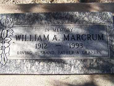 MARCRUM, WILLIAM A. - Mohave County, Arizona | WILLIAM A. MARCRUM - Arizona Gravestone Photos