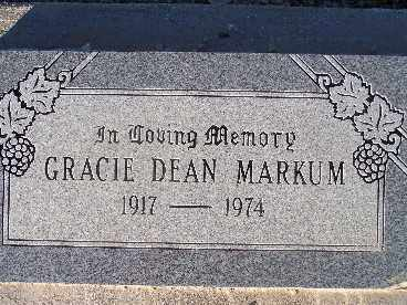 MARKUM, GRACIE DEAN - Mohave County, Arizona | GRACIE DEAN MARKUM - Arizona Gravestone Photos