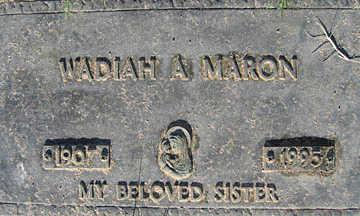 MARON, WADIAH A - Mohave County, Arizona | WADIAH A MARON - Arizona Gravestone Photos