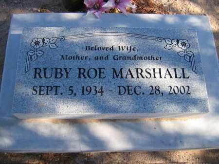 MARSHALL, RUBY ROE - Mohave County, Arizona   RUBY ROE MARSHALL - Arizona Gravestone Photos