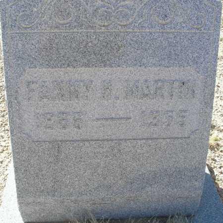 HAYES MARTIN, FANNY H. - Mohave County, Arizona | FANNY H. HAYES MARTIN - Arizona Gravestone Photos