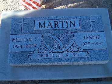 MARTIN, JENNIE - Mohave County, Arizona | JENNIE MARTIN - Arizona Gravestone Photos