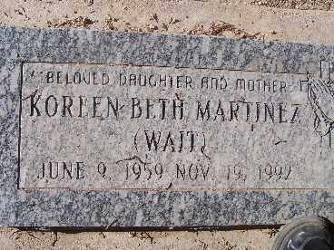 MARTINEZ, KORREN BETH - Mohave County, Arizona | KORREN BETH MARTINEZ - Arizona Gravestone Photos
