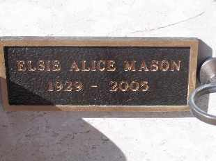 MASON, ELSIE ALICE - Mohave County, Arizona | ELSIE ALICE MASON - Arizona Gravestone Photos