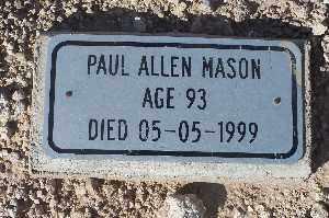 MASON, PAUL ALLEN - Mohave County, Arizona | PAUL ALLEN MASON - Arizona Gravestone Photos
