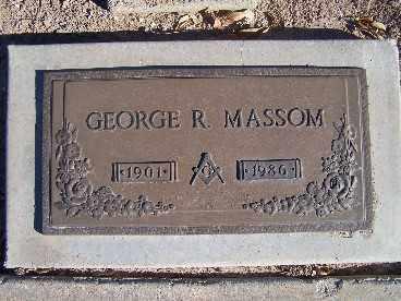 MASSOM, GEORGE R. - Mohave County, Arizona | GEORGE R. MASSOM - Arizona Gravestone Photos