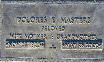 MASTERS, DOLORES E - Mohave County, Arizona | DOLORES E MASTERS - Arizona Gravestone Photos