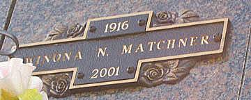 MATCHNER, WINONA N - Mohave County, Arizona | WINONA N MATCHNER - Arizona Gravestone Photos