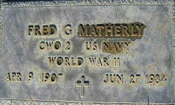 MATHERLY, FRED G - Mohave County, Arizona | FRED G MATHERLY - Arizona Gravestone Photos