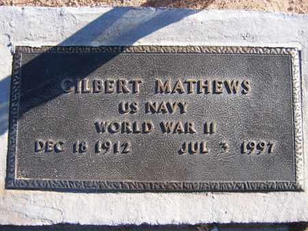 MATHEWS, GILBERT - Mohave County, Arizona | GILBERT MATHEWS - Arizona Gravestone Photos