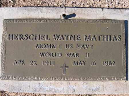 MATHIAS, HERSCHEL WAYNE - Mohave County, Arizona   HERSCHEL WAYNE MATHIAS - Arizona Gravestone Photos